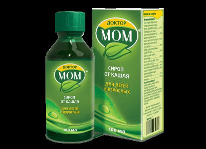 Упаковка сиропа Доктор МОМ<sup>®</sup>