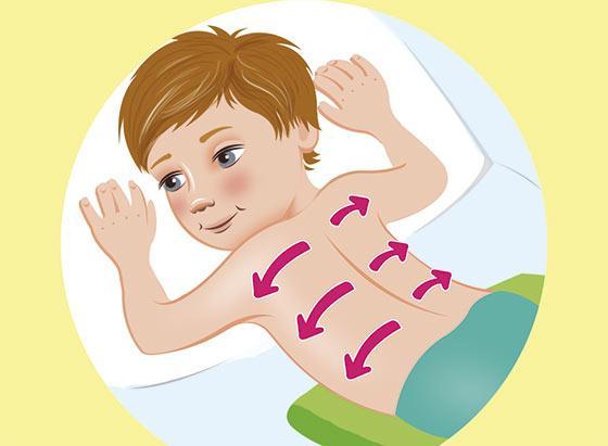 Массаж от кашля для детей - положение 4
