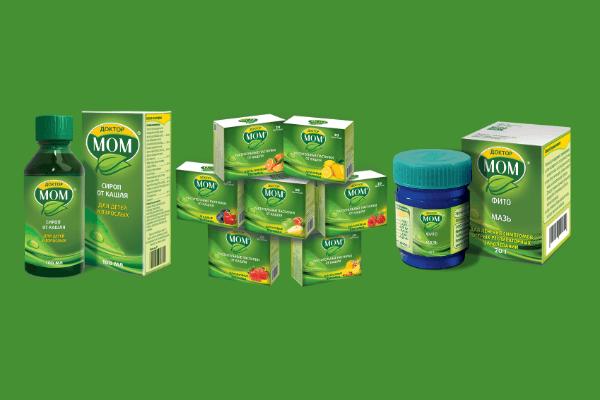 Упаковки препаратов Доктор МОМ<sup>®</sup>