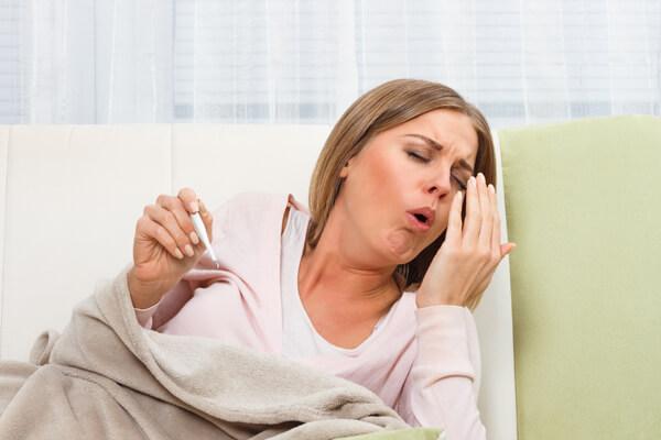 Температура и приступ кашля