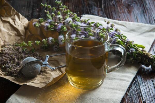 Чай с мятой от острого трахеита