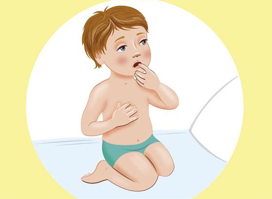 Массаж от кашля для детей - положение 8