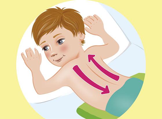 Массаж от кашля для детей - положение 3