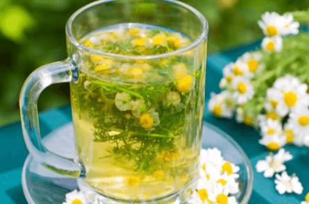Чай с ромашкой от кашля